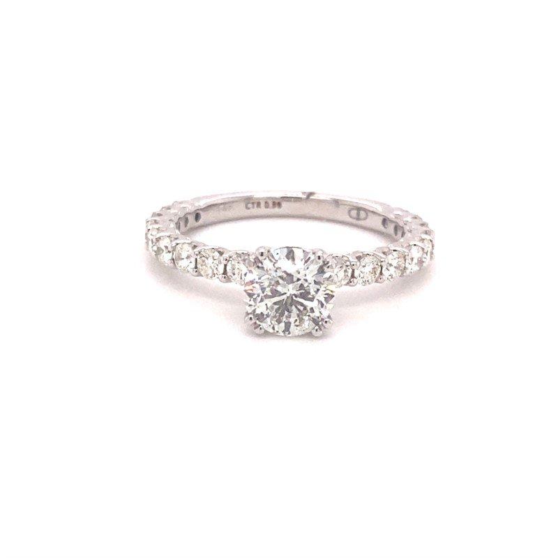 Murphy Pitard Signature Collection Round Diamond Engagement Ring