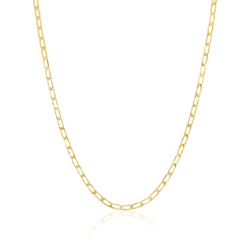 ela rae new york city Flat Curb Chain Necklace