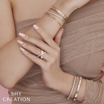 Diamond & Polished Fancy Link Bracelet