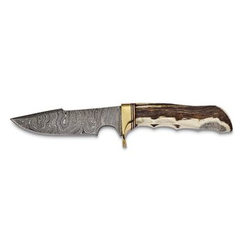 Stag Horn Damascus Steel Knife