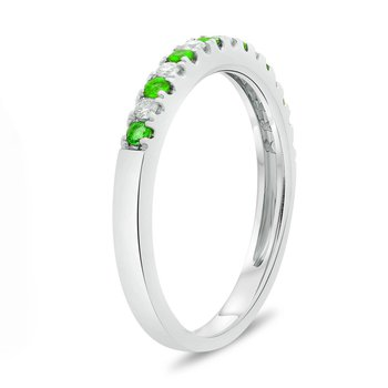 Pavé Tsavorite & Diamond Band