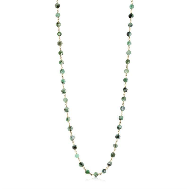ela rae new york city Diana Coin Emerald Necklace