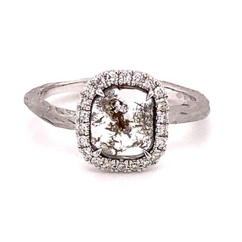 Fancy Diamond Slice Halo Ring