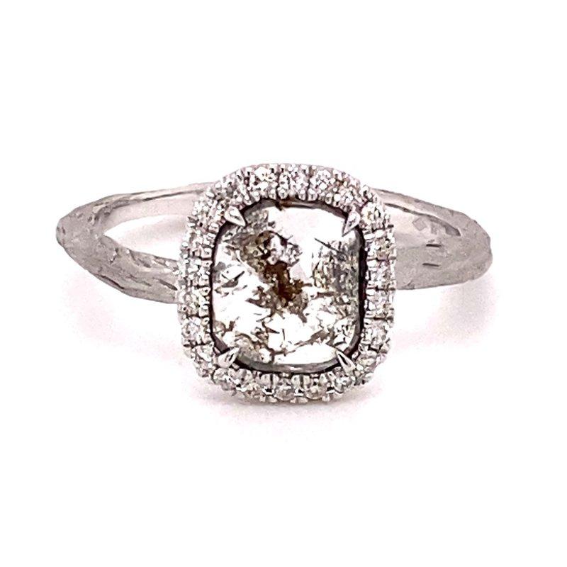Murphy Pitard Signature Collection Fancy Diamond Slice Halo Ring