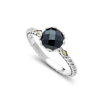 Black Spinel Birthstone Ring