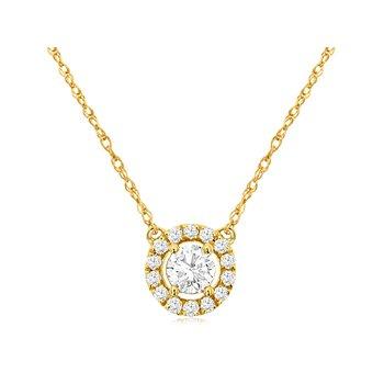Diamond 1/3 Carats Halo Neckacle