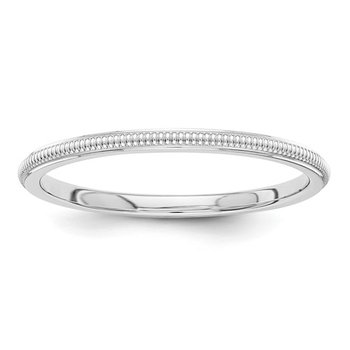 Milgrain Stackable Wedding Band