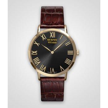Murphy Pitard 40 Millimeter Dress Watch with Black Dial