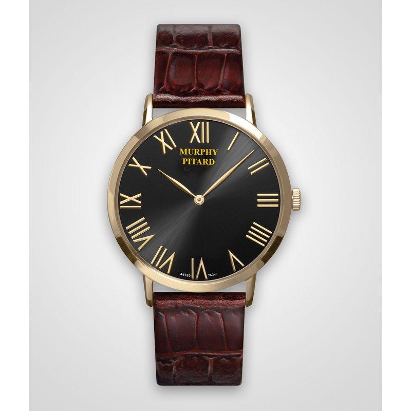 Murphy Pitard Signature Collection Murphy Pitard 40 Millimeter Dress Watch with Black Dial