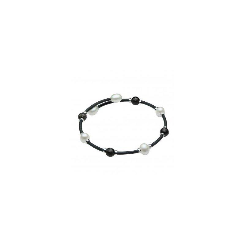 Murphy Pitard Signature Collection Freshwater Pearl & Quartz Bangle Bracelet