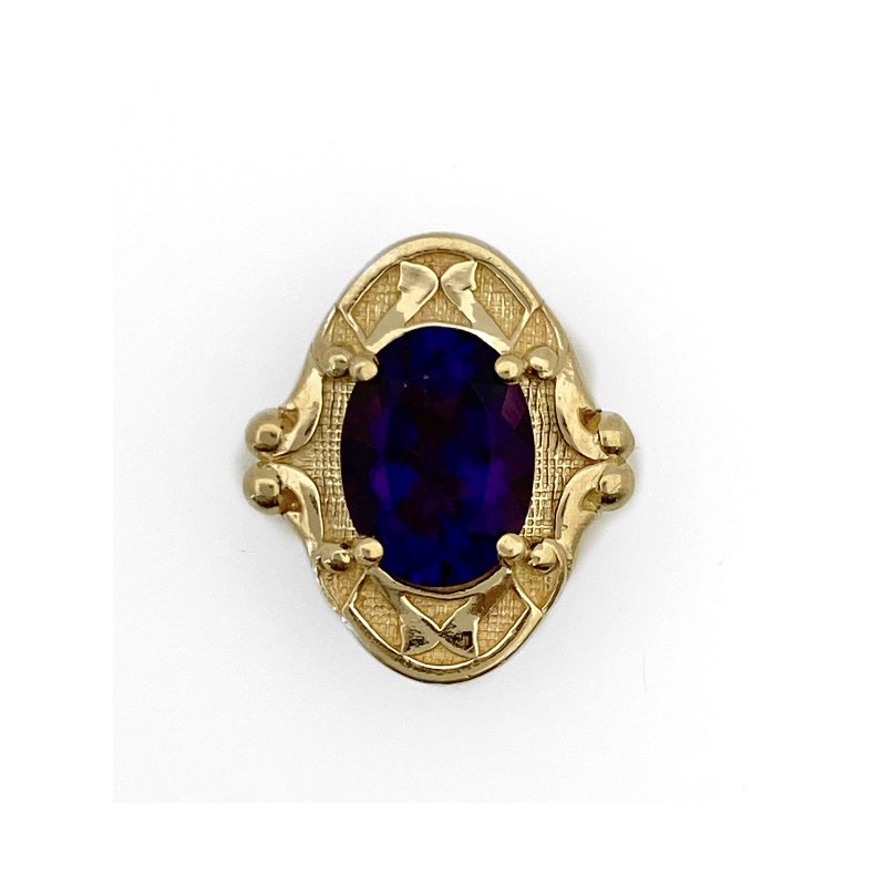 Murphy Pitard Estate Collection Amethyst Oval Traditional Slide