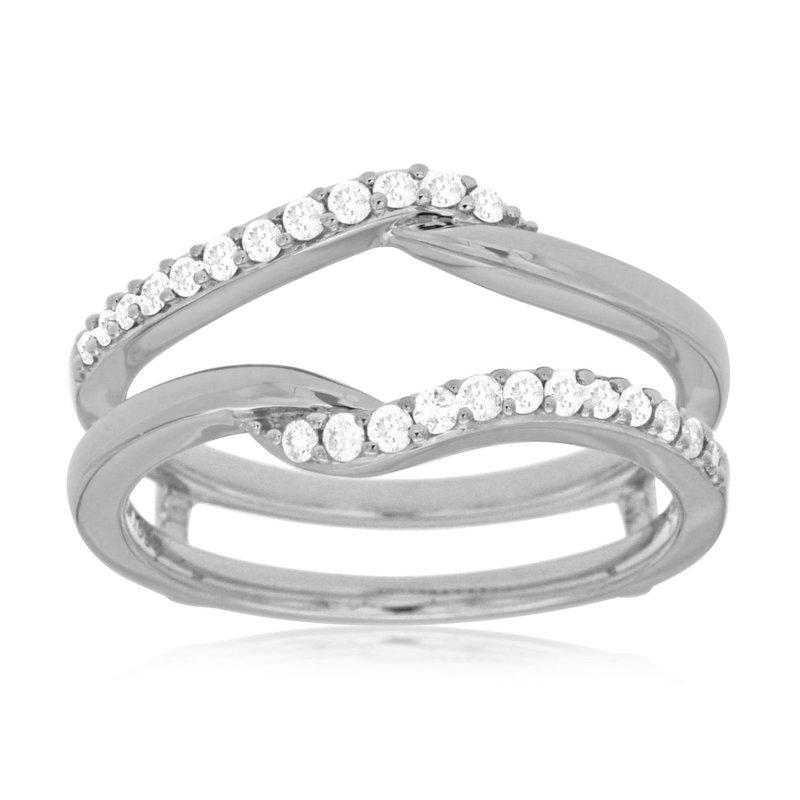 Murphy Pitard Signature Collection Diamond 1/4 Carts Twist Ring Guard