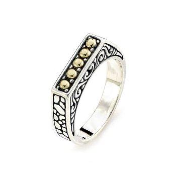 Silver Balinese Bar Ring