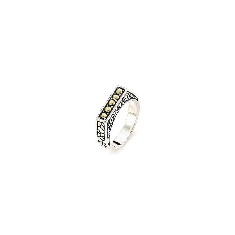Samuel B. Silver Balinese Bar Ring