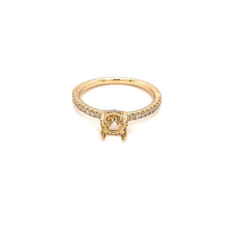 Murphy Pitard Signature Collection Diamond Engagement Ring Semi-Mount