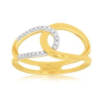 Diamond Open Loop Fashion Ring