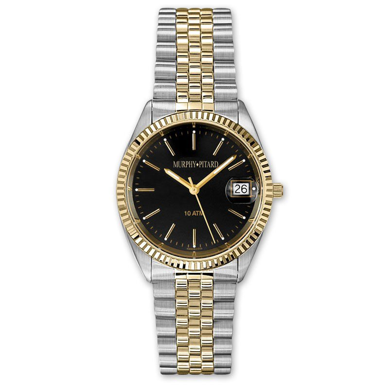 Murphy Pitard Signature Collection MPJ Two-Tone Black Dial 35 Millimeter Dress Watch
