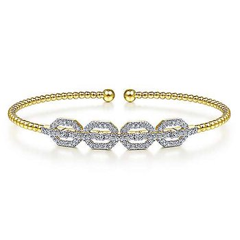 Diamond Link Bujukan Cuff Bracelet