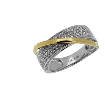 Pave Diamond Two-Tone Fashion Band