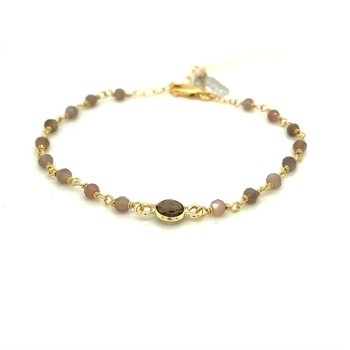 Dayna Brown Moonstone and Labrodorite Bracelet