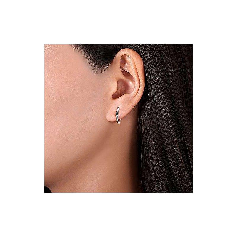 Gabriel & Co. New York Diamond Huggie Hoop Earrings