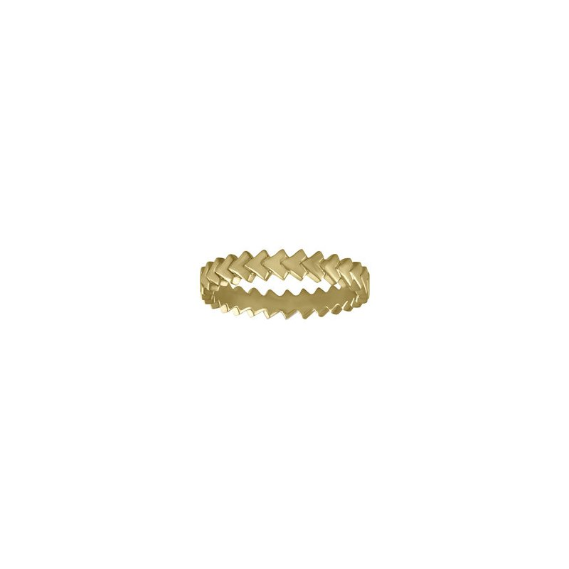 Kaspar and Esh Stacking Chevron Eternity Band