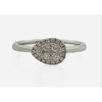 Diamond Twist Band Engagement Ring