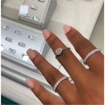 Diamond Twist Band Engagement Ring