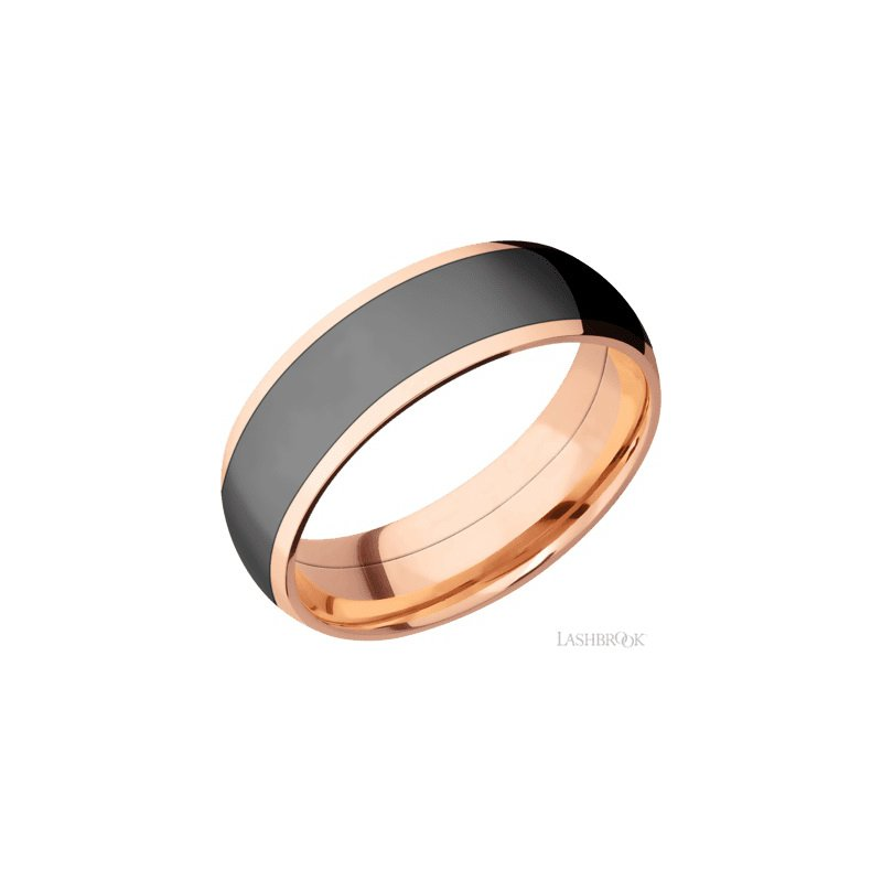 Lashbrook Rose Gold Zirconium Band