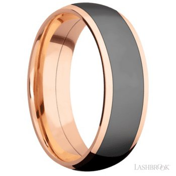 Rose Gold Zirconium Band