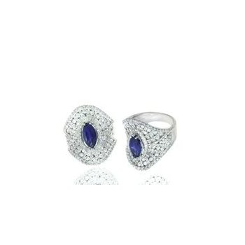 Diamond & Sapphire Contemporary Fashion Ring