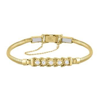 Tennis Style Diamond .30 Carats Starter Bracelet