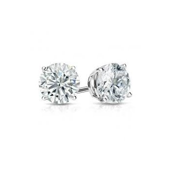 Traditional Set Diamond 5/8 Carats Stud Earrings