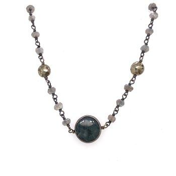 Labradorite and Pyrite Libi Necklace