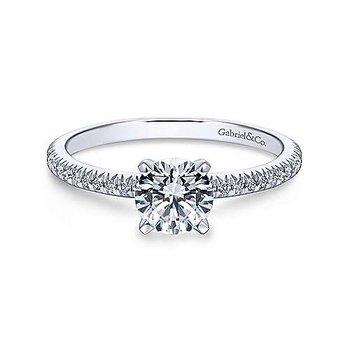 Oyin Round Diamond Engagement Ring