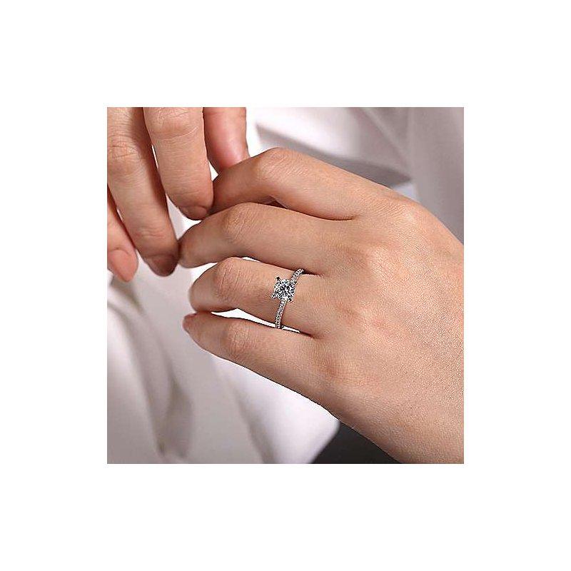 Gabriel & Co. New York Oyin Round Diamond Engagement Ring