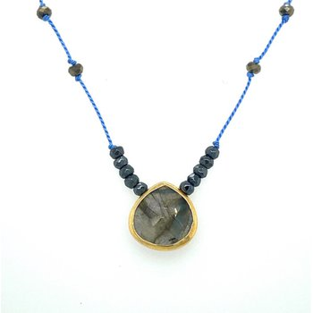 Sylvie Silk Labradorite Necklace