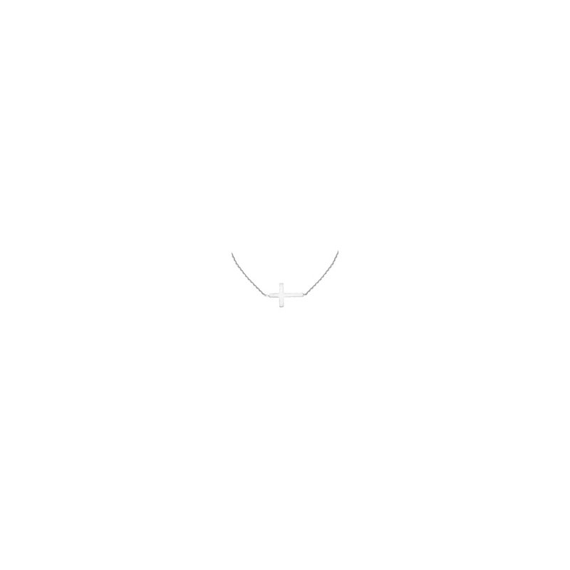 Murphy Pitard Signature Collection White Gold E2W Cross Necklace