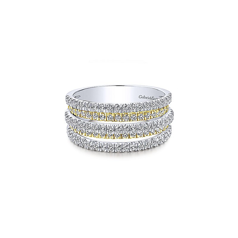 Gabriel & Co. New York Contemporary Two Tone Band