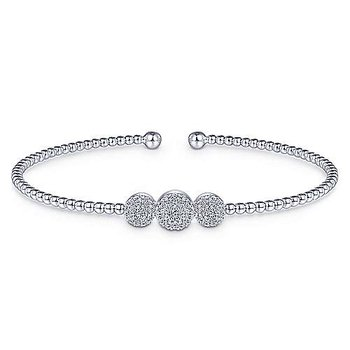 Diamond Bujukan Bead Cuff Bracelet