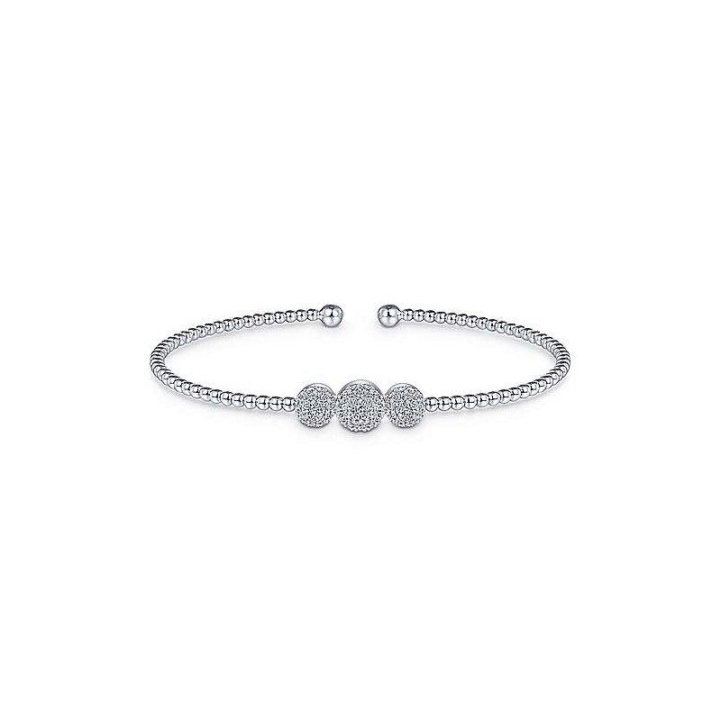 Gabriel & Co. New York Diamond Bujukan Bead Cuff Bracelet
