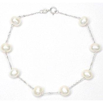 Tin Cup 6-6.5 Millimeter Pearl Bracelet