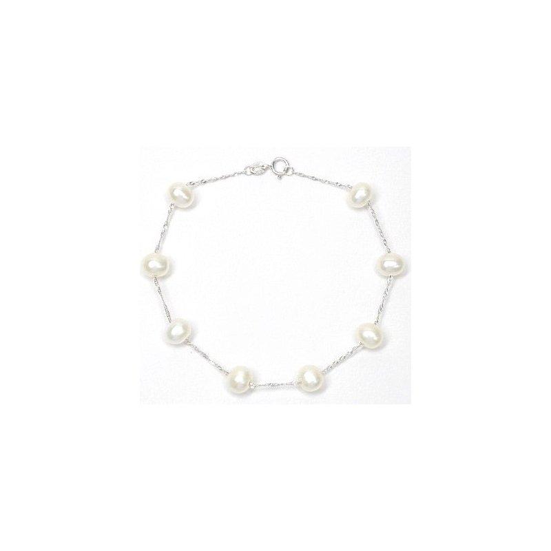 Murphy Pitard Signature Collection Tin Cup 6-6.5 Millimeter Pearl Bracelet