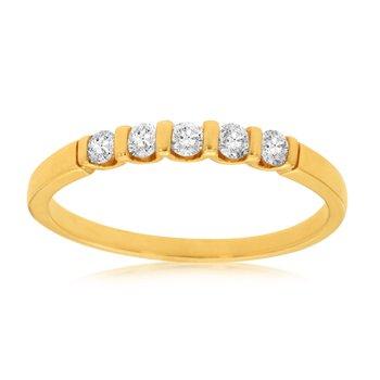 Diamond 1/4 Carats Channel Set Band