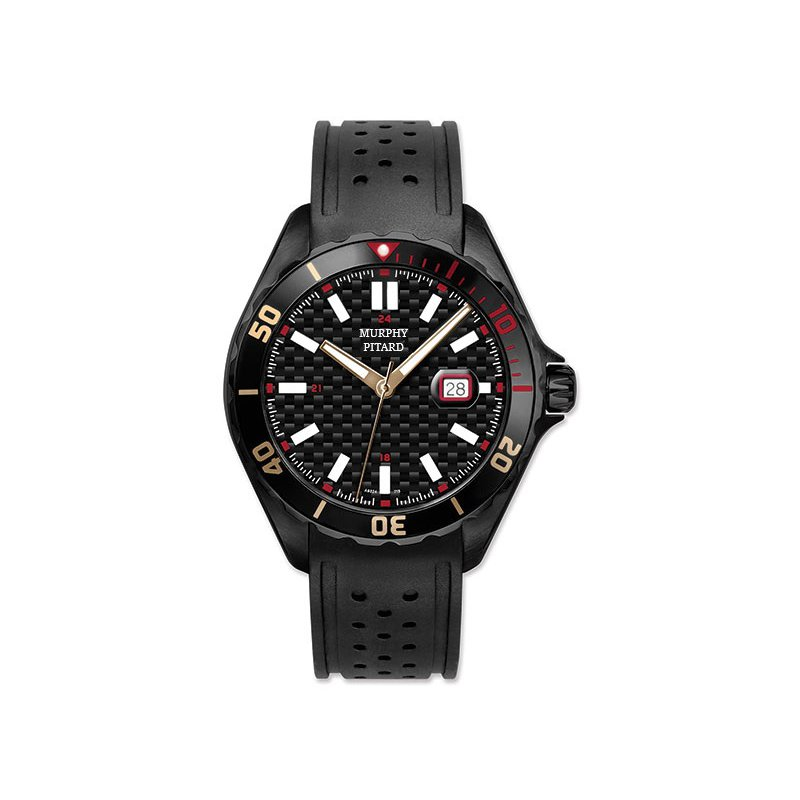 Murphy Pitard Signature Collection MPJ Black IP Stainless Steel 46 Millimeter Sport Watch