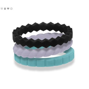 Women's Melody Stack Silicone Rings Size 6