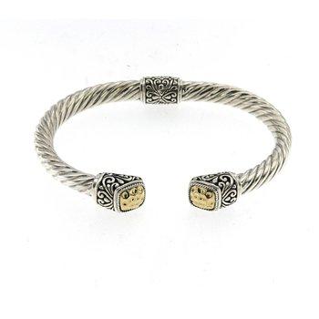 Twisted Cable Bangle Bracelet