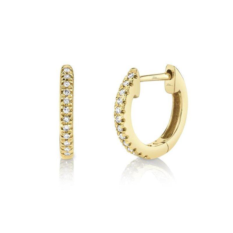 Shy Creation Diamond .07 Carats Huggie Earrings