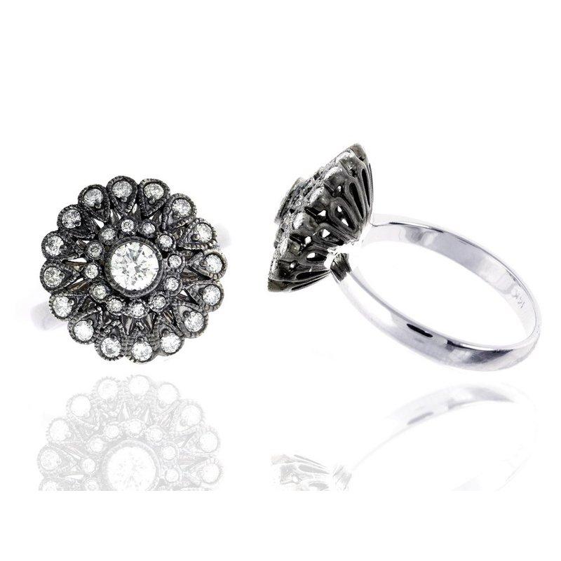 Murphy Pitard Signature Collection Diamond Flower Ring