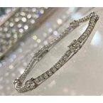 Murphy Pitard Signature Collection Round & Oval Diamond 4 4/5 Carats Tennis Bracelet